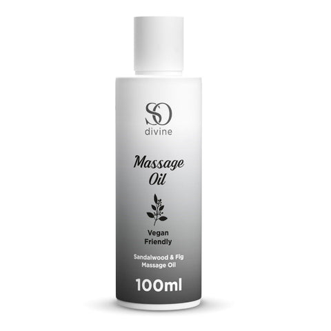 So Divine sandalwood massage oil