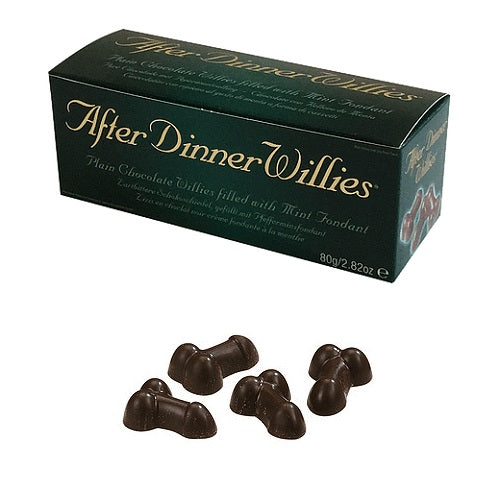Penis shaped chocolate willy