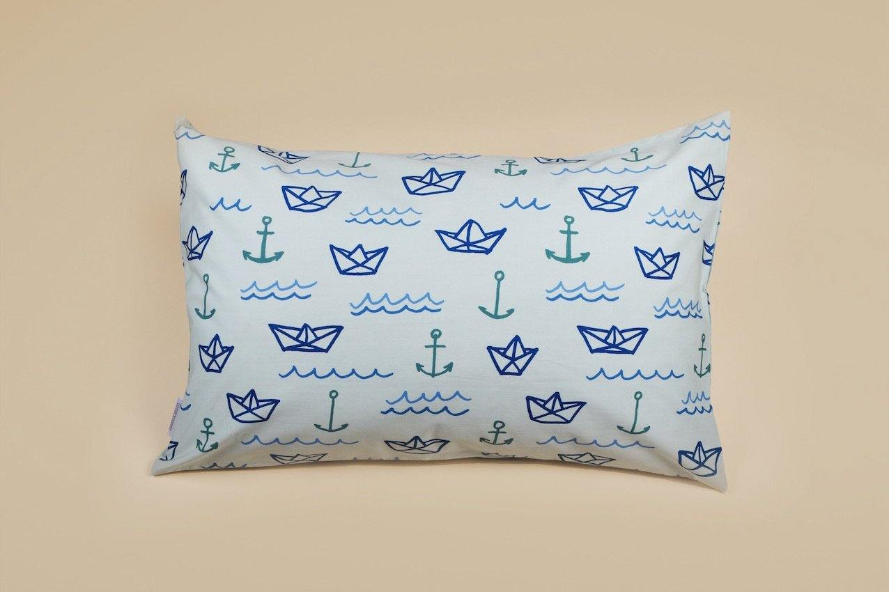 Blue Sailor Children's Pillow Case in 100% Cotton
