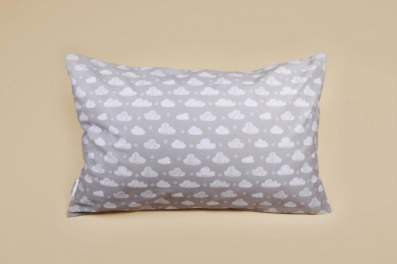 Grey Cloud Pillow Case in 100% cotton