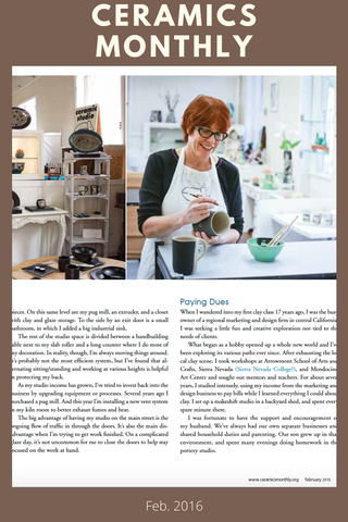 Ceramics Monthly - Patricia Griffin