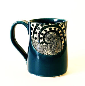 Made-to-Order Mug: Woodcut Wave