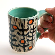 Load image into Gallery viewer, Mug - Hummer in the Garden with Celadon Glaze