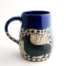 Load image into Gallery viewer, Mug - Corgi Love with Cobalt Blue