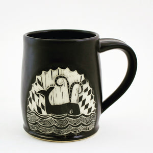 Made-to-Order Mug: Woodcut Whale