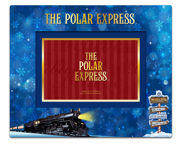 THE POLAR EXPRESS™  Padded Fabric Picture Frame HORIZONTAL