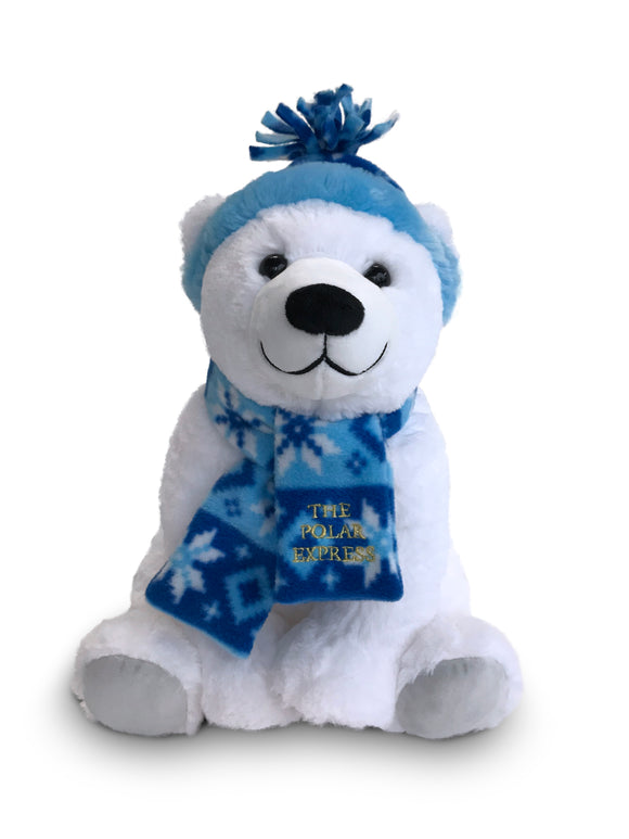 THE POLAR EXPRESS™ Polar Bear with Hat and Scarf Plush
