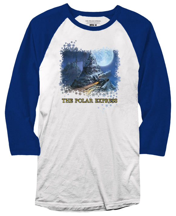 THE POLAR EXPRESS™ Blue and white tee shirt YOUTH and ADULT