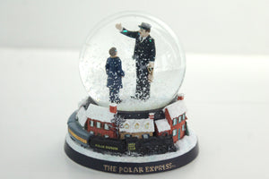 THE POLAR EXPRESS™ Conductor and Hero Boy Snow Globe