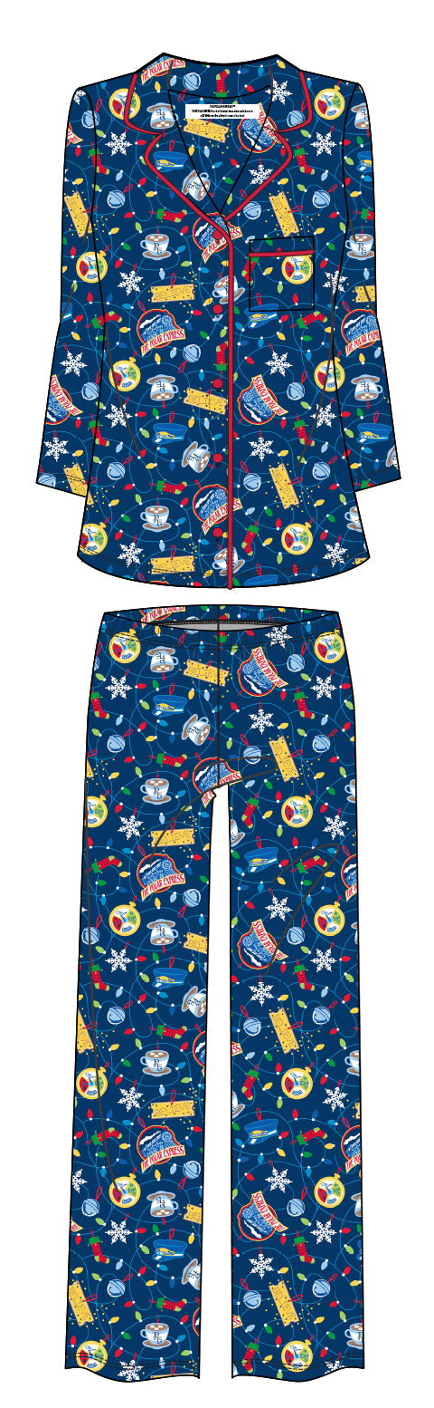 THE POLAR EXPRESS™ Coat Set Pajamas ADULT -