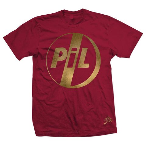 PiL Gold Classic Logo Red T-Shirt