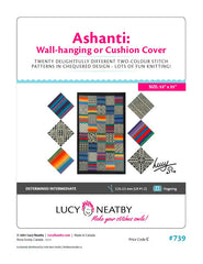 Ashanti Wall-Hanging and Cushion Covers by Lucy Neatby - Digital Pattern
