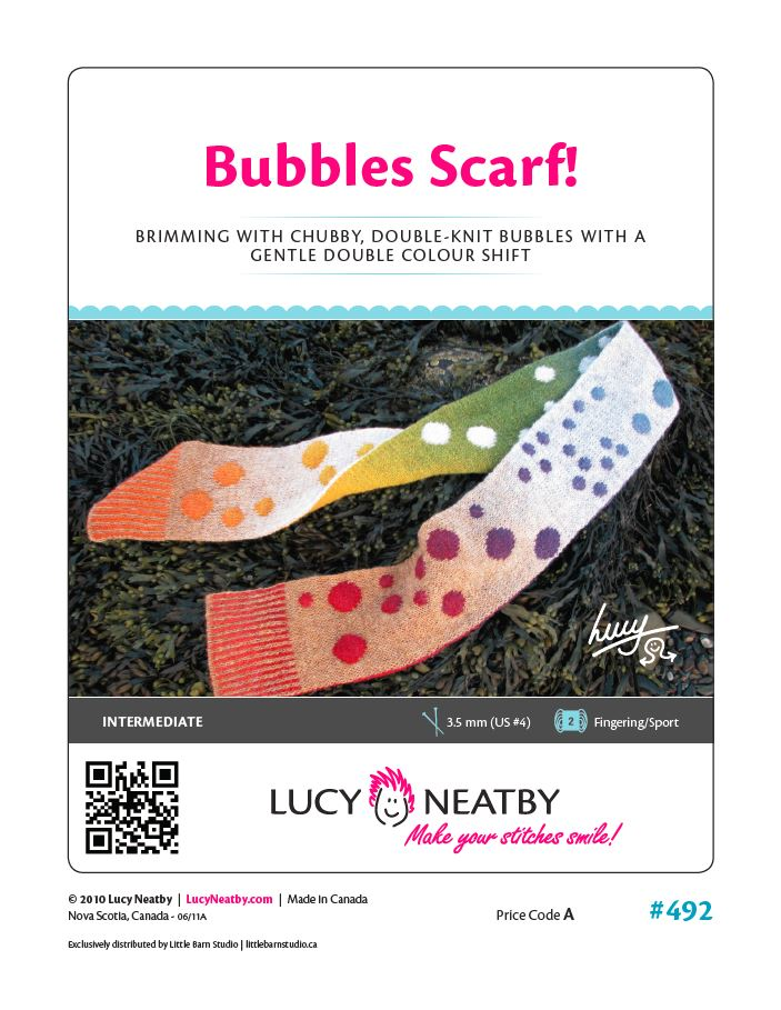 Bubbles Scarf by Lucy Neatby - Digital Pattern