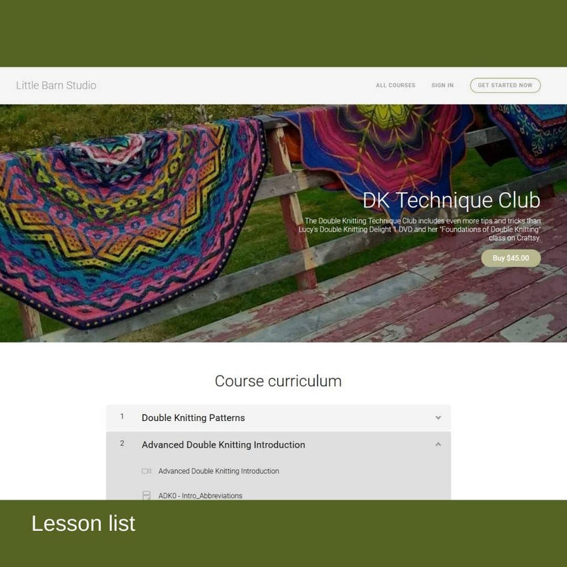 The DK Technique Club by Lucy Neatby - A video tutorial about double knitting / doubleknitting.
