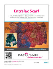 Entrelac Scarf by Lucy Neatby - Digital Pattern