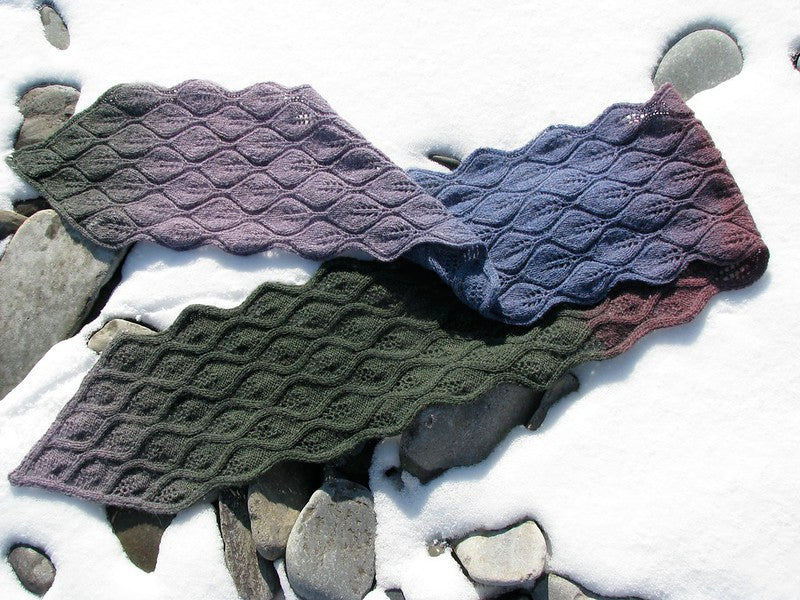 Falling Leaves Scarf by Lucy Neatby - Digital Pattern