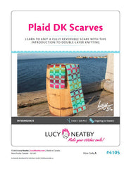 Plaid DK Scarves by Lucy Neatby - Digital Pattern