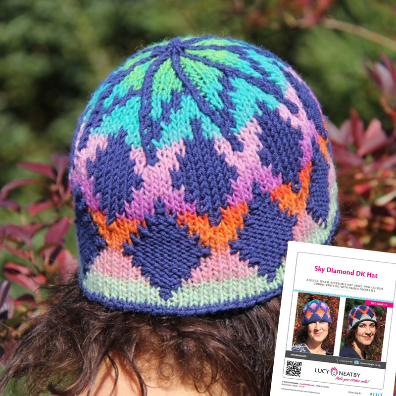 Sky Diamond DK Hat by Lucy Neatby | Digital Pattern