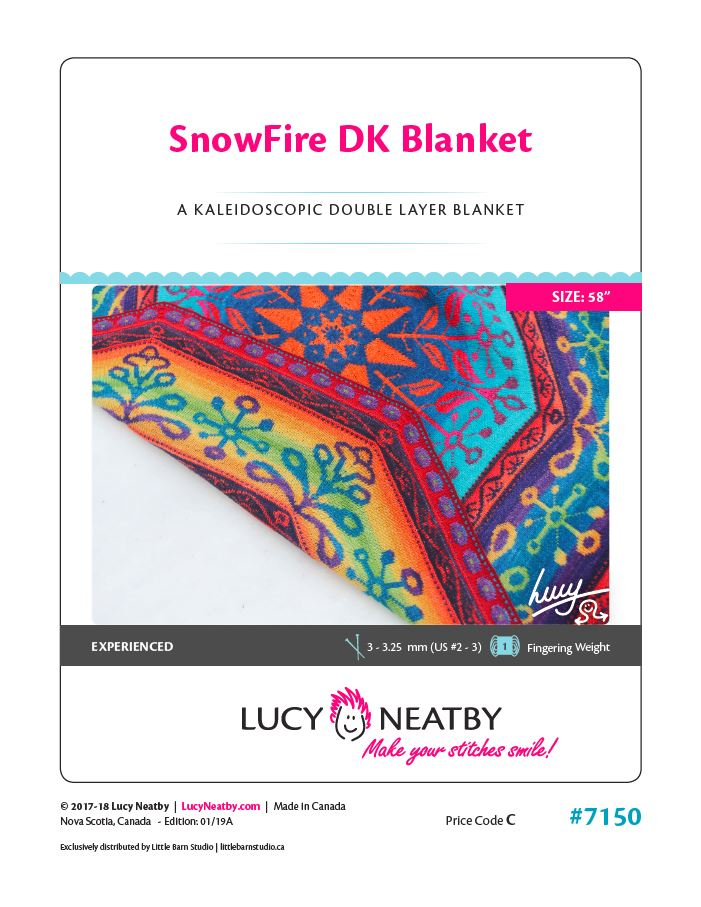 SnowFire DK Blanket by Lucy Neatby - Digital Pattern