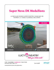 Super Nova Medallions by Lucy Neatby - Digital Pattern