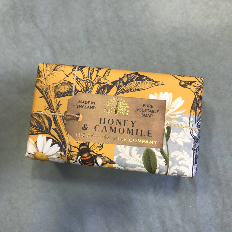 Large Bar of wrapped Soap - Honey & Camomile