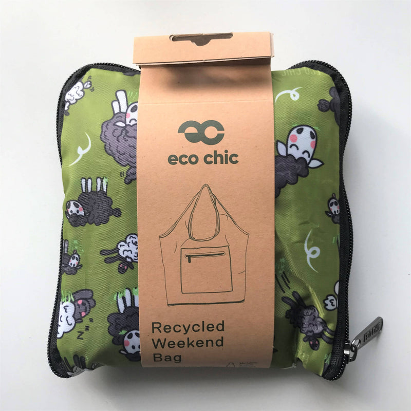Eco Chic Recycled Weekend Bag - Sheep design