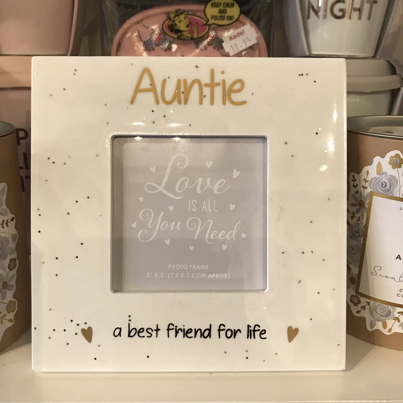 Photo Frame - Auntie, a best friend for life