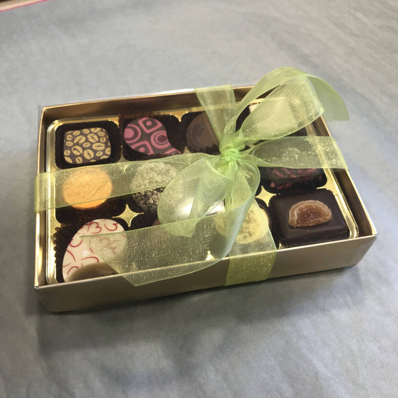 12 continental hand finished chocolates and truffles