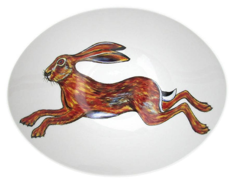 Richard Bramble Hare 27cm Oval Bowl