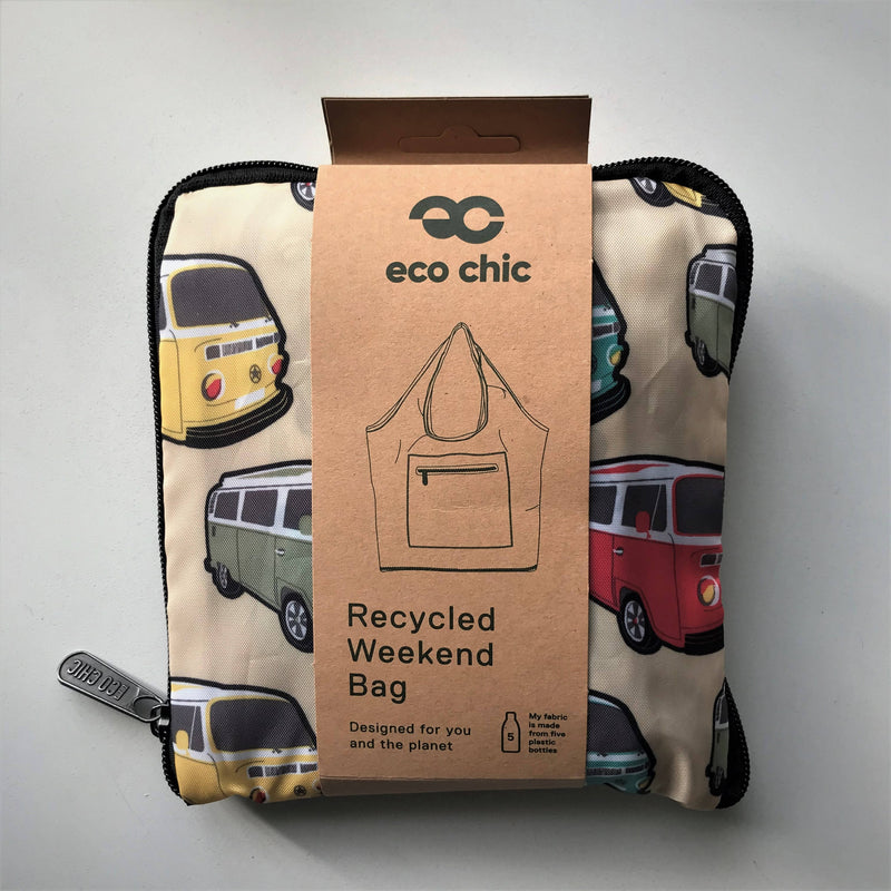 Eco Chic Recycled Weekend Bag - Camper Van design