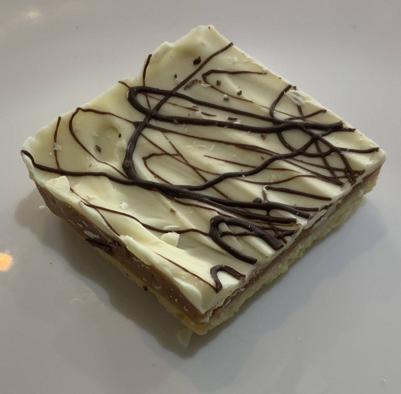 White Chocolate Caramel Shortbread Slice