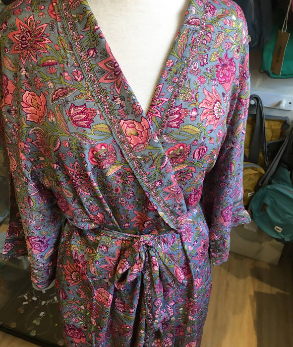 Dressing Gown Silk Blend
