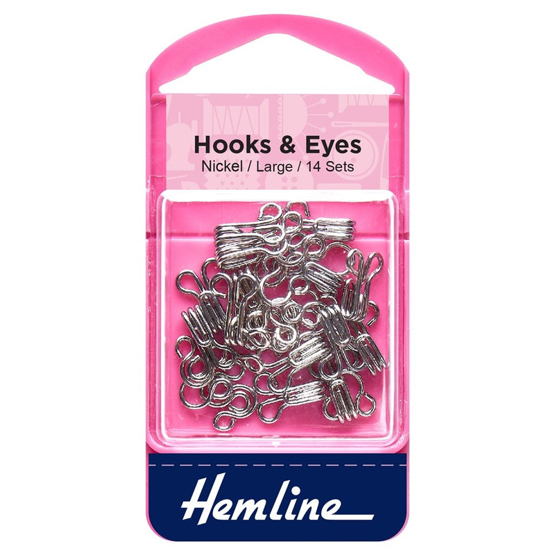 Hooks and Eyes: Nickel: Size 3