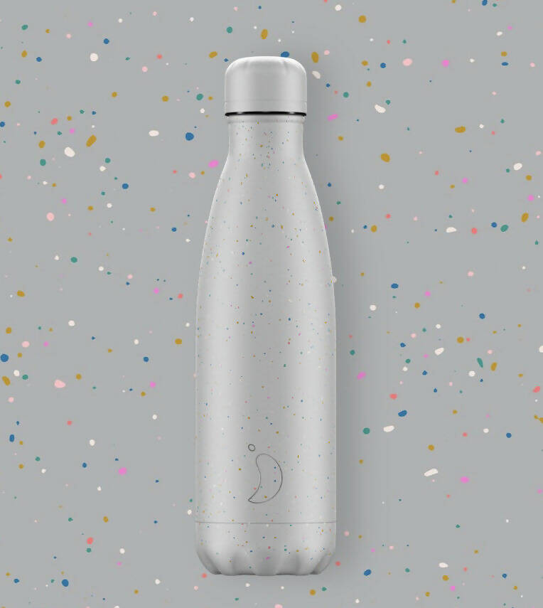 Chilly's Speckle Cools Grey Insulated Drinks Bottle 500ml