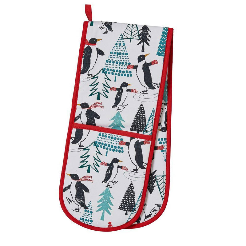 Double Oven Glove Penguins On Ice by Ulster Weavers