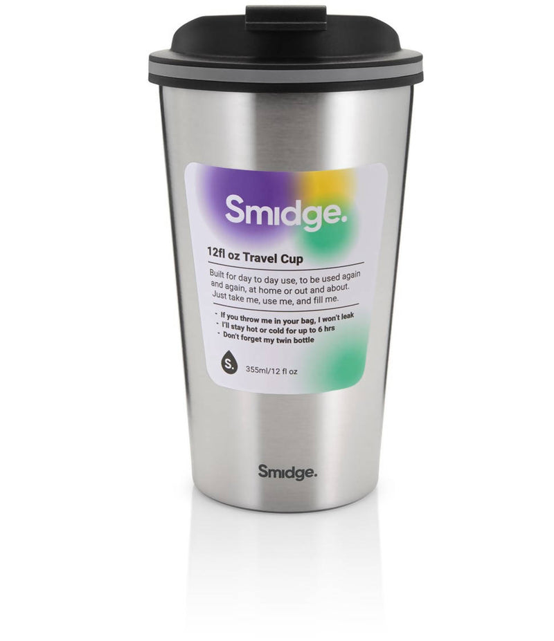 Smidge Travel Cup, 355ml, Steel