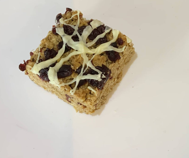 Cranberry and White Chocolate Flapjack