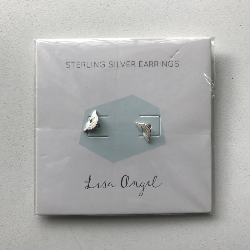 Sterling Silver Earrings - Rainbow