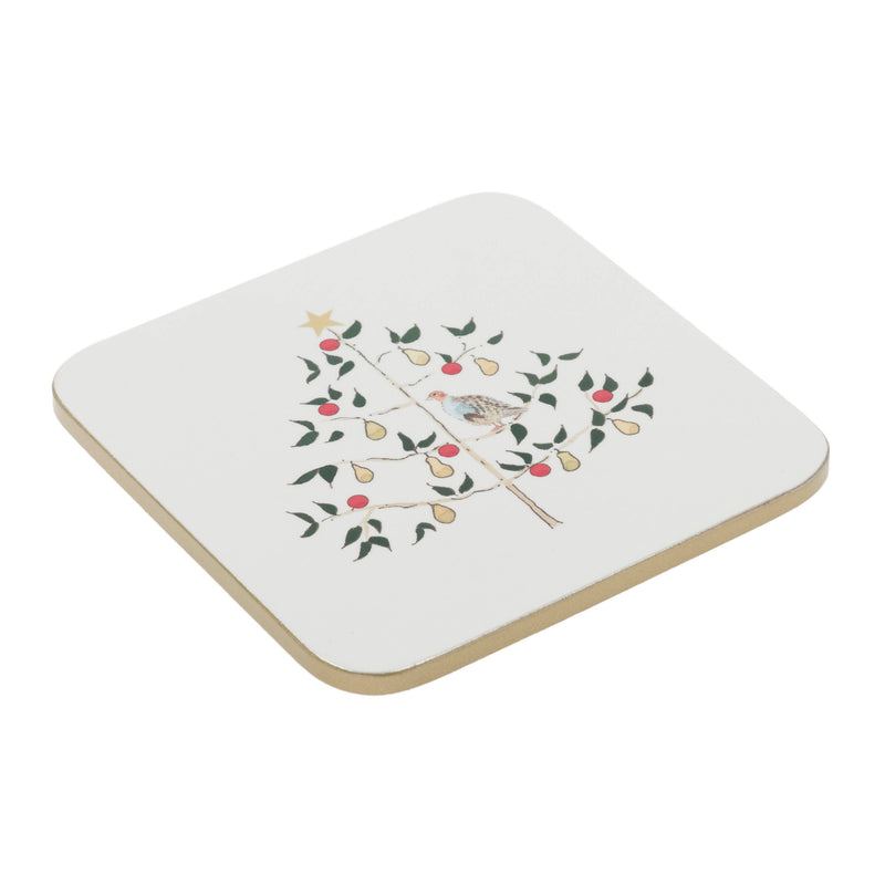 Sophie Allport Partridge in a Pear Tree Coasters (set of 4)
