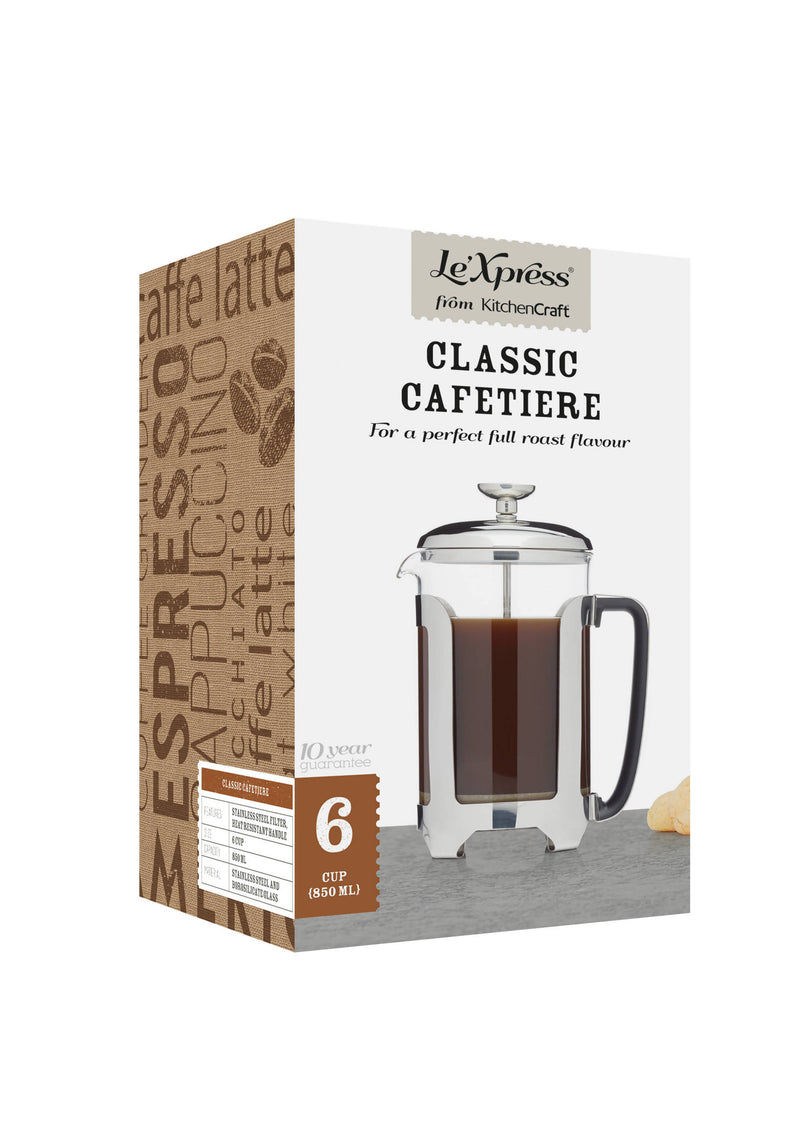 Kitchen Craft Le'xpress Classic 6 Cup French Press Cafetiere