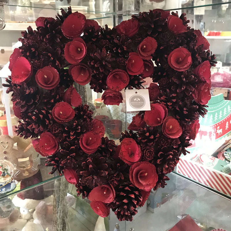 Large Festive Heart Wreath