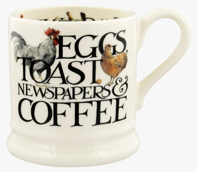 Emma Bridgewater Rise & Shine Eggs & Toast 1/2 Pint Mug