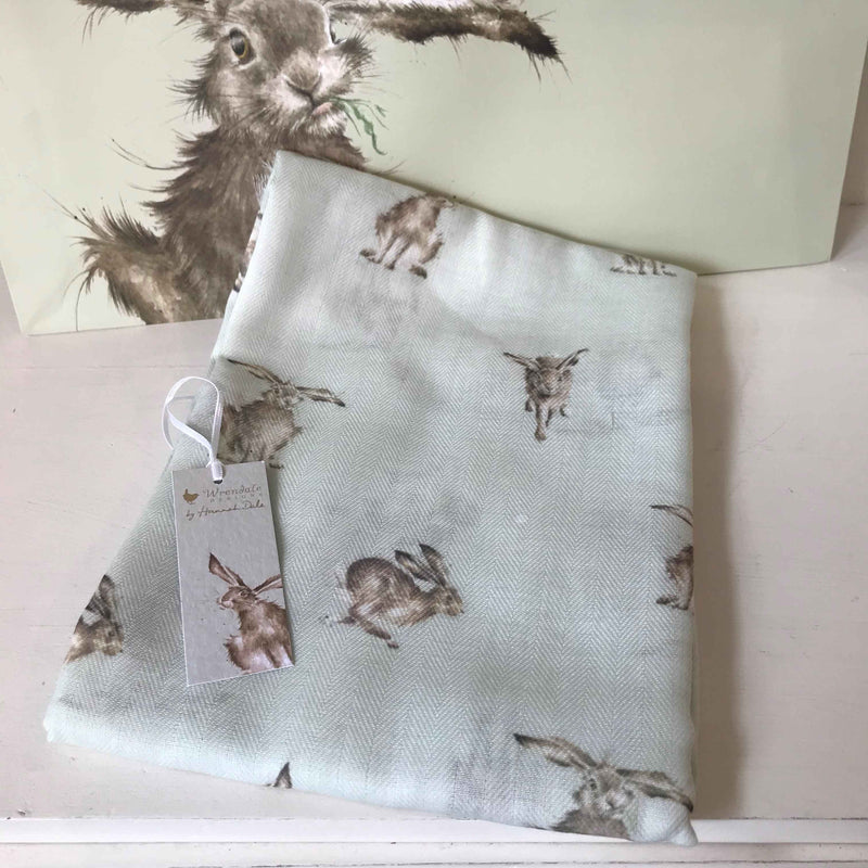 Wrendale Grey Scarf Hares with Gift Bag