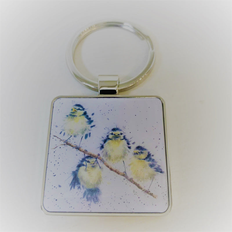 Wrendale Keyring Blue Tit Design