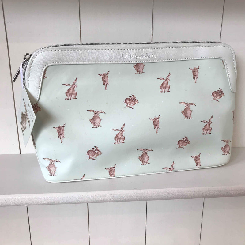 Wrendale Large Cosmetic Bag with Hare Design