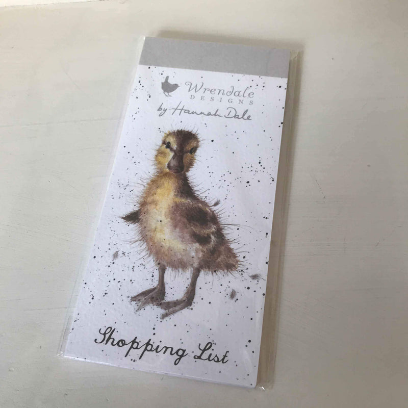 Wrendale Magnetic Shopping List Duckling Design