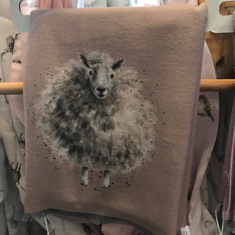 Wrendale Winter Scarf with Gift Bag - Sheep