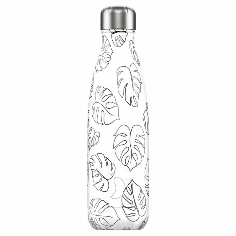 Chilly's Line Art Leaves Insulated Drinks Bottle 500ml
