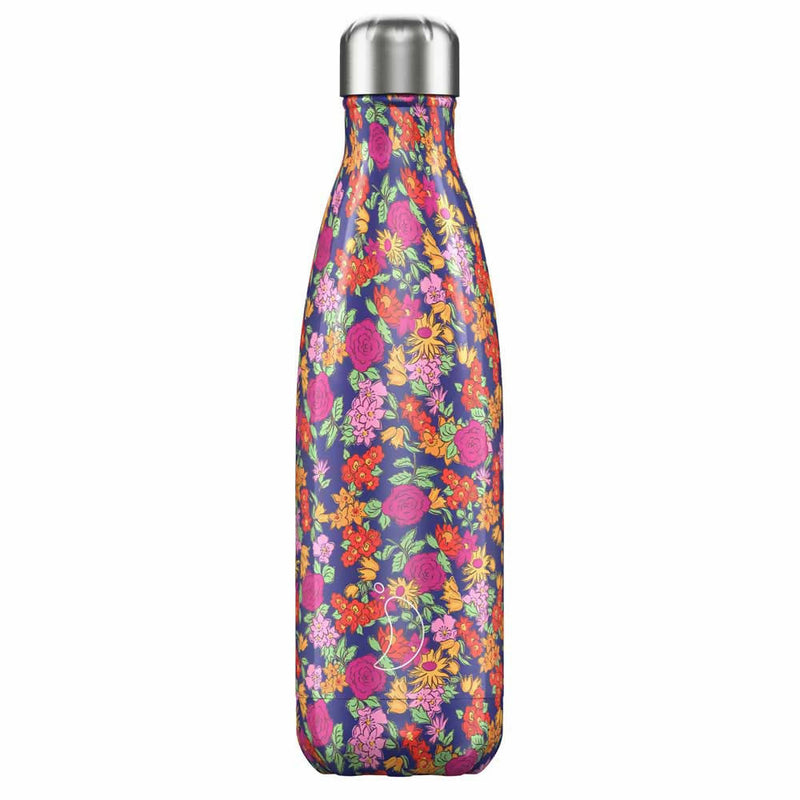 Chilly's Floral Wild Rose Insulated Drinks Bottle 500ml