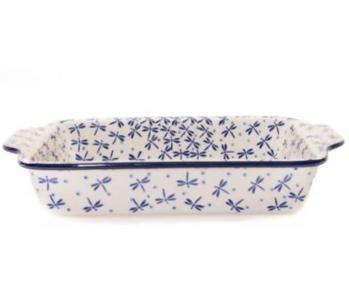 Polish Pottery Dish With Handles 28x19x5cm